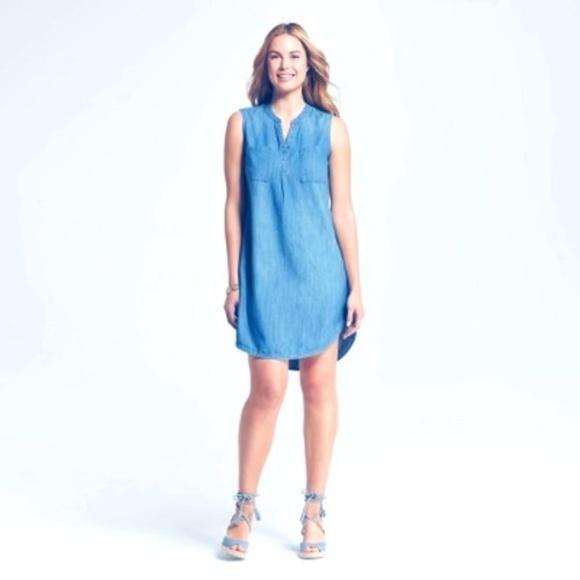 Merona Tops - Women's Denim Shirt Dress - Merona Medium Denim XS